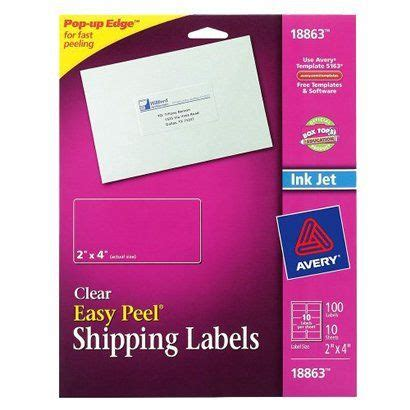 Avery Labels 2x4 Template by Avery 2x4 Label Template Quotes