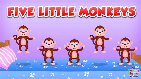 5 little monkeys jumping on the bed lyrics five little monkeys jumping on the bed nursery rhyme cartoon animation rhymes songs