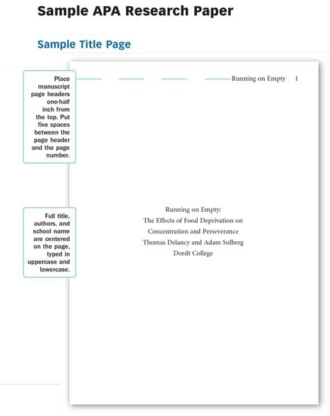 research paper title page template military bralicious co