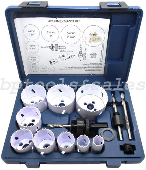 Promo Holesaw Kit Saw Kit Set 13 Pcs Mata Bor Pelubang Kayu Pipa 13pc bi metal all purpose saw set 3 4 quot 2 1 2 quot electricians plumbers kit ebay