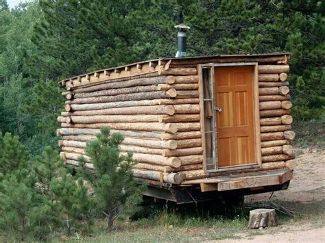 log cabin trailer cottage log cabin trailer flat roof bluff cabin ideas