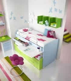 White and green bunk bed for girls by domus arredi