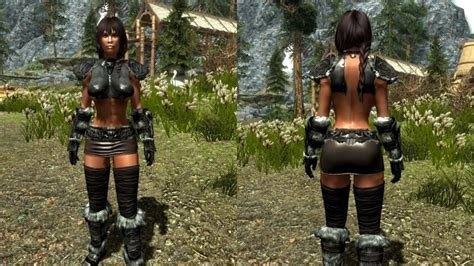 remodeled armor for cbbe bodyslide hdt 기존 중갑 경갑 의상을 cbbe bbp로 컨버전 하고 노출있게 변경하거나