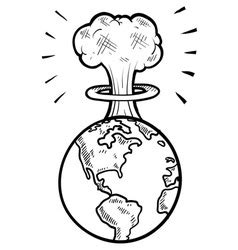 doodle nuke doodle earth day royalty free vector image