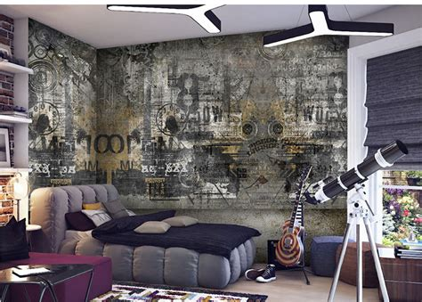 graffiti wallpaper living room free shipping european style street graffiti art