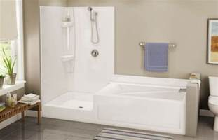 badewanne one bathroom bathtub showers small spaces installation shower