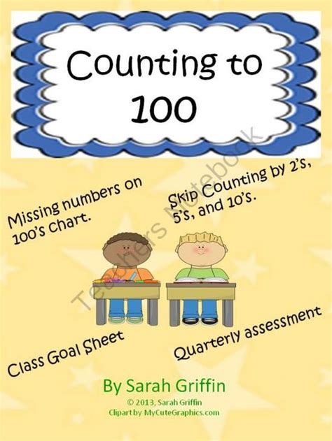 printable hundreds chart poster counting to 100 100s chart assessment class goal