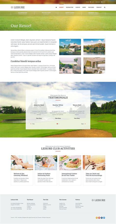 hotel theme themeforest hotel wordpress theme hotel leisure by curlythemes
