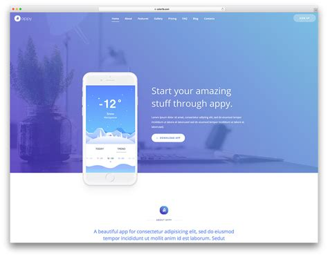 51 free simple website templates for clean using