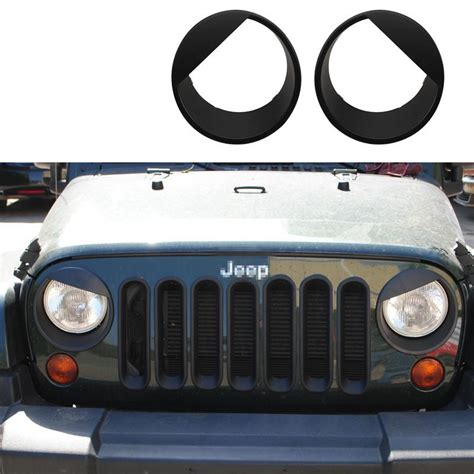 jeep angry headlights front grill mesh grille insert headlight angry bird trim
