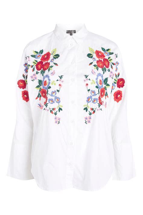 Embroidered Shirt embroidered poplin shirt topshop usa