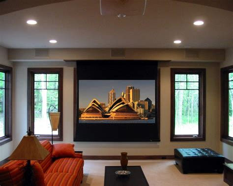 projector in living room projector contemporary living room grand rapids by