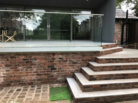 glass balustrades raised patio steps liverpool sunrock