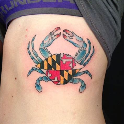 maryland flag tattoo my maryland crab crabulous