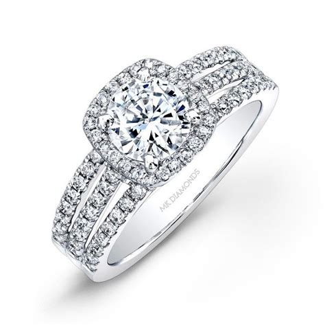 brilliant thick band engagement rings halo
