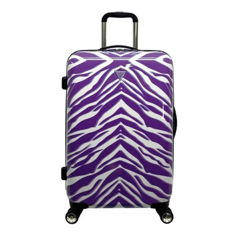 zebra pattern suitcase my favorite purple suitcases and luggage sets