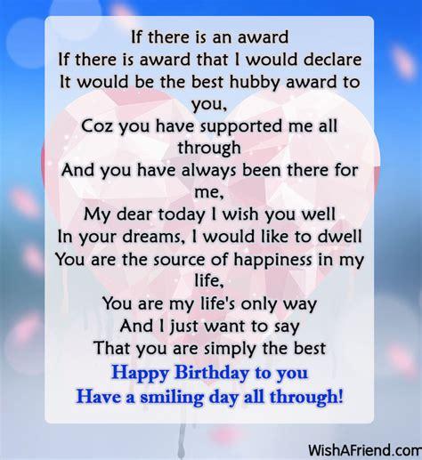 a poem for my husband husband birthday poems