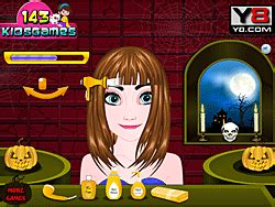 halloween hairstyles games play frozen anna halloween hairstyle online for free pog com