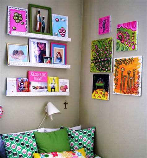 Hiasan Dinding Hiasan Dinding Minimalist Dot Painting hiasan dinding kamar tidur pelajar ide buat rumah