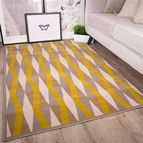 Teppiche Gelb Grau by Quot Milan Quot Moderner Teppich Im Retro Design Mit Diamantmuster