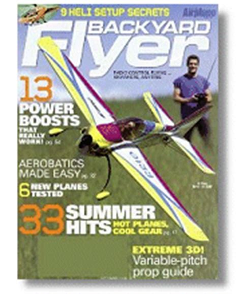 park flyers backyard flyers rc airplane magazines and books