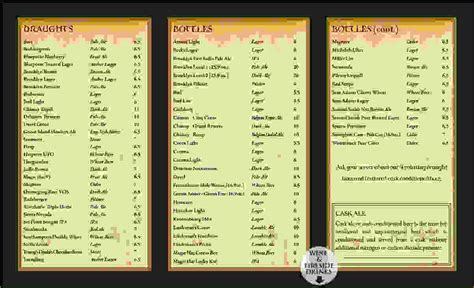 menu templates for menu wine menu template