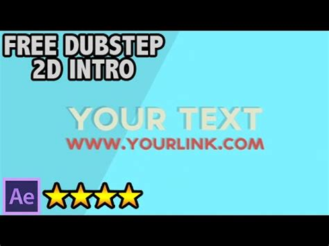 after effects templates free no plugins free 2d after effects dubstep intro template no plugins