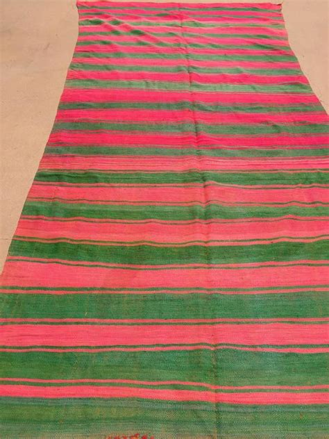 green flat weave rug moroccan vintage flat weave rug pink and green for sale at 1stdibs