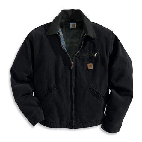 Carhartt Sandstone Detroit Jacket Blanket Lined by Carhartt J97blk Sandstone Detroit Jacket Blanket Lined