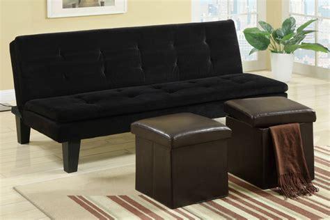 Black Fabric Sofa Bed Poundex F7197 Black Size Fabric Sofa Bed A