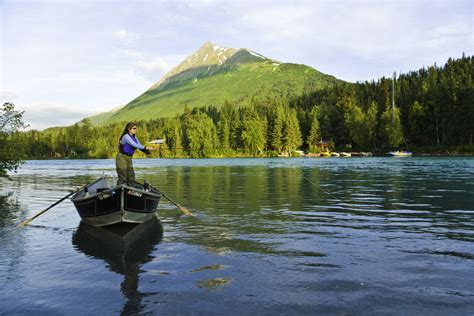 drift boat kenai river alaska rivers company fly fishing drift boat alaska