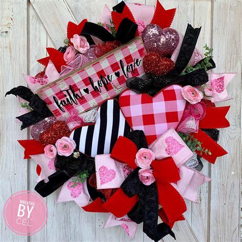 valentines day wreaths  front door etsy
