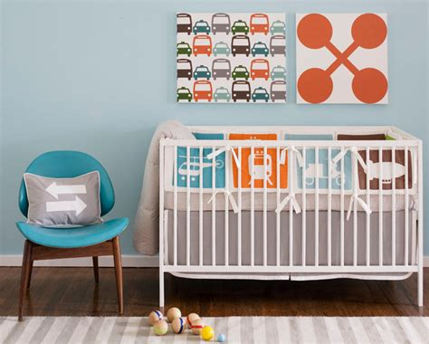 Transportation Nursery Decor Dwell Transportation Crib Set
