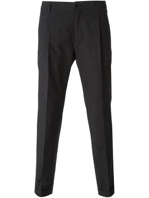 Tailored Trouser dolce gabbana classic tailored trousers in gray for