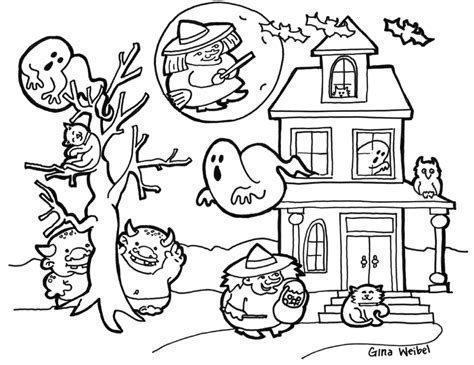 halloween coloring pages for adults coloring pages