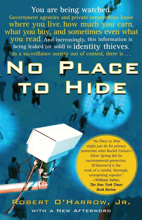 no place to hide book by robert o harrow jr official publisher page simon schuster canada
