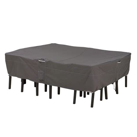 Classic Accessories Ravenna X Large Rectangular Oval Patio Cover For Patio Table And Chairs