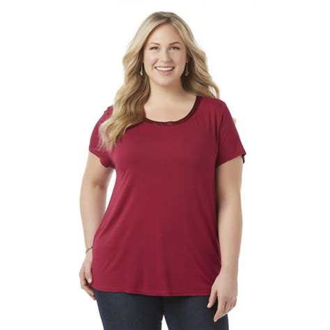 plus size tops sears