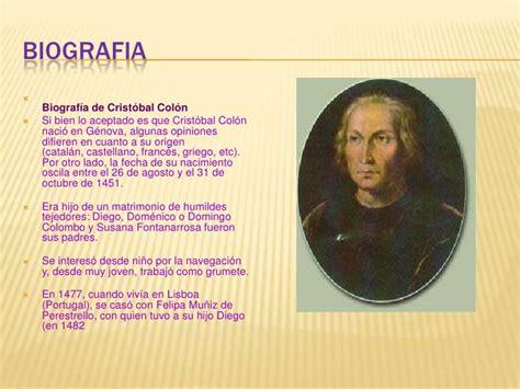 biografia cristobal colon resumen cristobal col 243 n alicia