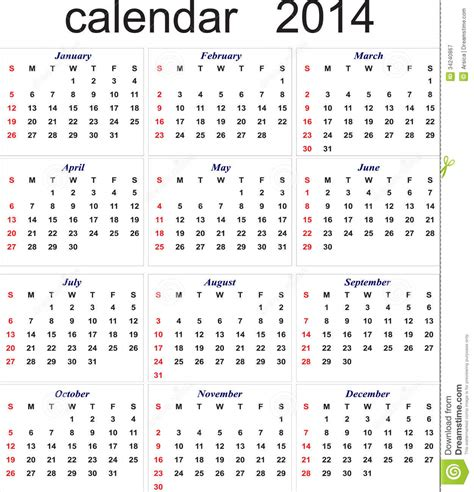 new year in calendar new year 2014 calendar for all months royalty free stock
