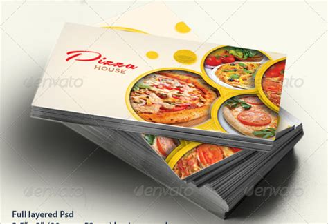 pizza business card template 45 restaurant business cards templates psd designs