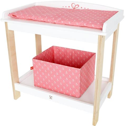Hape Baby Doll Wooden Changing Table Pretend Parent Play Doll Changing Table