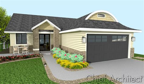 Beautiful Garage Designs stone chimney with gable roof and wood siding plus deck