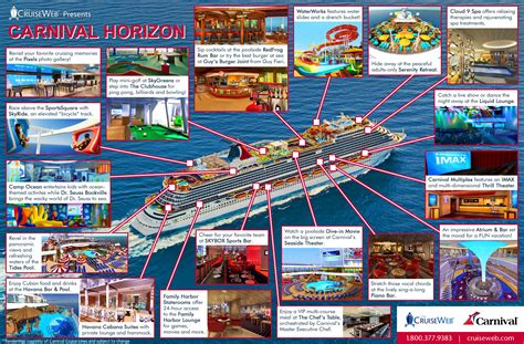 Carnival Horizon Cruise Ship, 2018 and 2019 Carnival