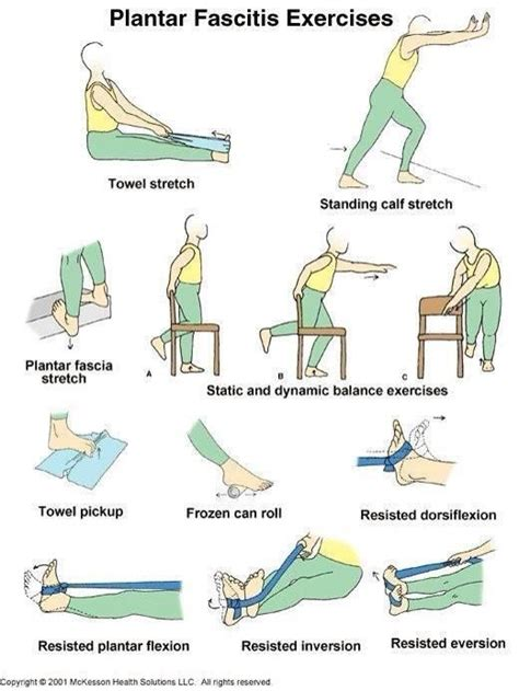 plantar fasciitis exercises fitness pinterest