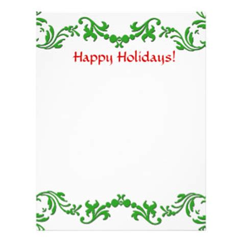 Letter Closing Happy Holidays Letter Paper Letterhead Zazzle