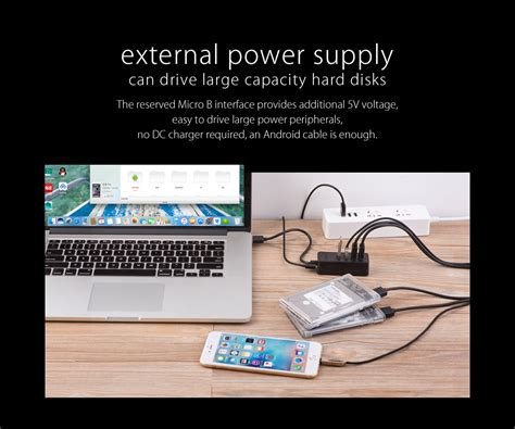 Orico W5p U2 4 Port Usb 2 0 Hub With Micro Usb Power Supply orico usb2 0 4 ports with micro usb usb hub orico w5p u2 30 blk 11street malaysia desktop