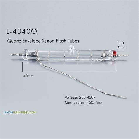 uv l quartz l 4040q uv quartz xenon flashtube 4 0x40mm ipl l