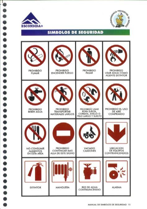 imagenes con simbolos manual de simbolos de seguridad y codigo colores