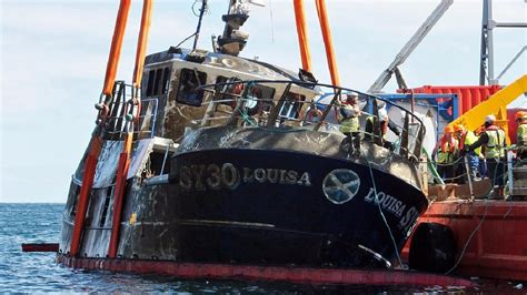 fishing boat accident scotland fatal sinking fishing boat raised by investigators